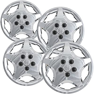 OxGord Hubcaps for Toyota Corolla 2005-2008 Set of 4 Pack Auto Wheel Covers
