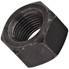"Steel Hex Nut, Plain Finish, Grade 8, 1/2""-13 Threads, 0.866"" Width Across Flats, 0.448"" Height (Pack of 50)"