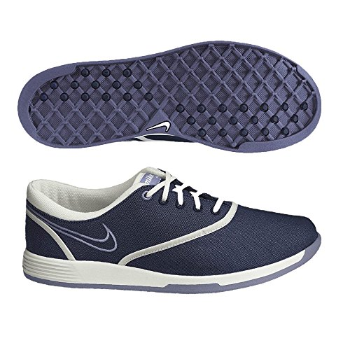 Nike Golf Women's Nike Lunar Duet Sport Golf Shoe,Blackened Blue/Summit White/Light Thistle,8.5 M US