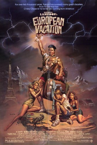 National Lampoon's European Vacation Poster Movie 11x17 Chevy Chase Beverly D'Angelo Dana Hill