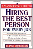 img - for A Manager's Guide to Hiring the Best Person for Every Job book / textbook / text book