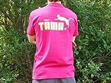 TAMA 両面プリント ピンク 半袖 Tシャツ