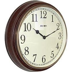 Big Ben 1939 White Dial Alarm Clock Brushed Nickel WLM