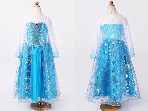 [迪士尼] 安娜和雪女王艾尔莎角色扮演集海角服饰和头饰 (衣服) (130 厘米)