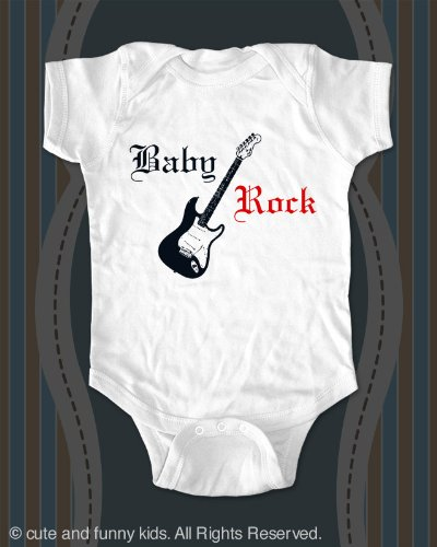 Baby Rock  a Guitar Baby Onesie Infant clothing