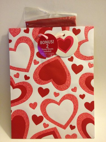 Valentine's Day Hearts Gift Wrap Bag