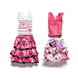 Toy - Generic 1 Pair Skirt And Short-sleeved T-shirt for Barbies Kids Doll