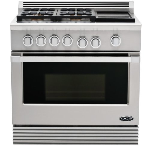 Dcs Stainless Steel Freestanding Dual Fuel Range Rdu364Gdl back-7280