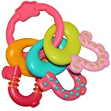 NewBorn, Baby, Bright Starts License to Drool Teether, Pretty in Pink New Born, Child, Kid