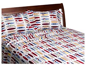Fresh Tommy Hilfiger Surfs up Collection Print Sheet Set Thread Count Queen