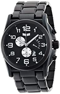 Vestal Men's DEV002 De Novo Black Ion Plated Retrograde Chronograph Watch