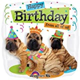 46cm Foil Birthday From All Party Dogs Balloon 1 per package
