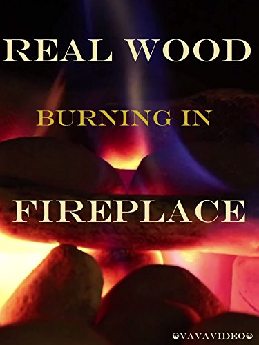Real Wood Burning in Fireplace