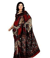 Miraan Silk Printed Saree (SD18008_Maroon)
