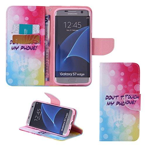 Galaxy S7Pellicola Protettiva, Membrana a prova di protezione per schermo, curvo 3d morbida per Samsung Galaxy S7, Ecopelle, Colorful Donot Touch, Samsung Galaxy S7 Edge