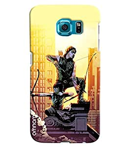 Omnam Two Superheros With Bow Printed Designer Back Cover Case For Samsung Galaxy S7 EDGE