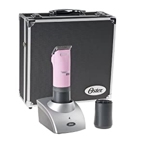 Oster Power Pro Ultra Cordless Professional Animal Clipper Kit with Storage Case, Pink