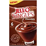 Jell-O Singles Instant Pudding Snacks, Sugar Free Chocolate, 6-Count Boxes (Pack of 10) ~ Jell-O