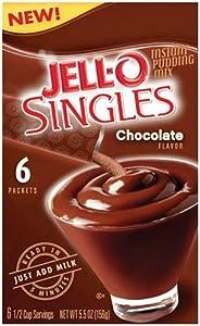 Amazon.com : Jell-O Singles Instant Pudding Snacks, Sugar