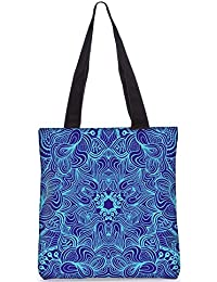 Snoogg Blue And Purple Digitally Printed Utility Tote Bag Handbag Made Of Poly Canvas