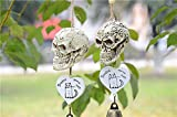 Fund DIY Dreams Come True Handmade Skull Shaped Wind Chimes Yard Home Decor Pack of 2