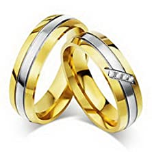 buy Jacob Alex Ring 18K Gold Plated Couple Rings Titanium Steel Wedding Promise Band Size6