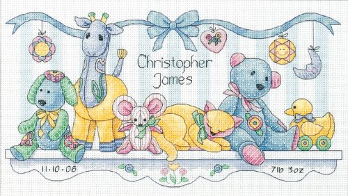 Dimensions Needlecrafts Counted Cross Stitch, Baby'S Friends Birth Record front-845329