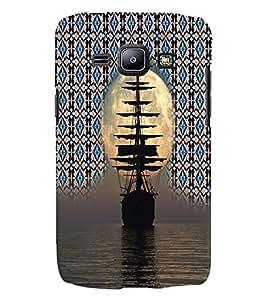 PrintVisa Travel Ship Sunset 3D Hard Polycarbonate Designer Back Case Cover for Samsung Galaxy J1