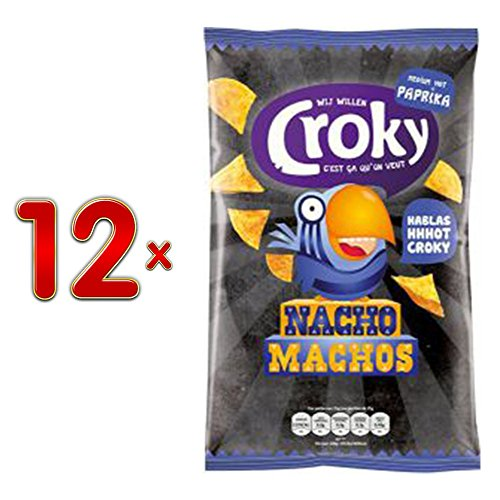 Croky Nacho Chips Nacho Machos medium Hot Paprika 12 x 120g Karton