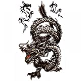King Horse Coole wasserdicht und Black Dragon Tattoo-Aufkleber für Männer