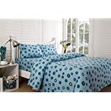 Inhouse By Maspar 52 Circle In Circle Printed Cotton Double Bedsheet With 2 Pillow Covers - Blue