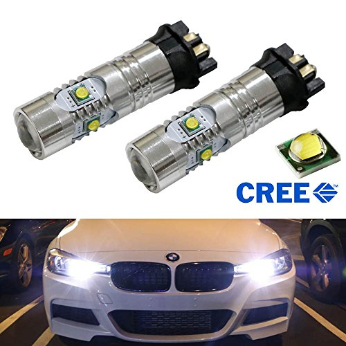 Ijdmtoy (2) Xenon White 25W Cree Pw24W Pwy24W Led Bulbs For Audi Bmw Vw Turn Signal Lights Or Daytime Running Lamps