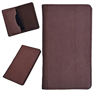 DCR Pu Leather case cover for Karbonn A52 (brown)