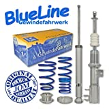 Coilover suspension kit, JOM BlueLine, Fiat Grande Punto 1.2/1.4/16V/1.3D/ 1.4T-Jet/1.9D, 05-, thread/ spring