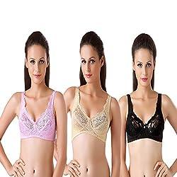 Bodyline Full Coverage Lacy Pink Skin and Black Bra