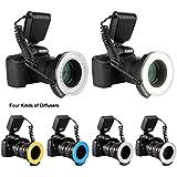 Excelvan® CN48 LED Lumière Macro Flash Annulaire Lampe pour DSLR Caméra Canon Nikon Panasonic Pentax