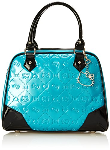 Hello Kitty Teal Embossed Pattern with Dog Clip Shoulder Bag, Multi, One Size (Hello Kitty Quilted Purse compare prices)