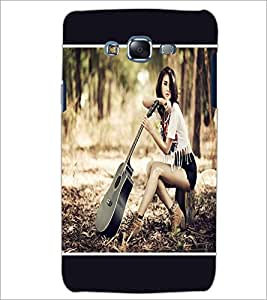 PrintDhaba Guitar Girl D-1349 Back Case Cover for SAMSUNG GALAXY ON 5 (Multi-Coloured)