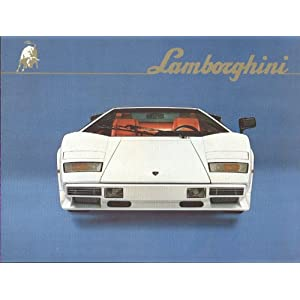 Amazon.com: 1982 1983 Lamborghini Countach LP500S Sales Brochure ...