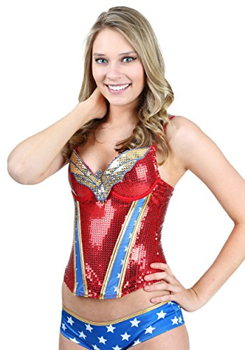 Wonder Woman Sequined Corset