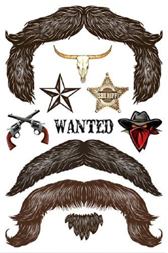 StacheTATS The Outlaw Temporary Mustache Tattoo - 1