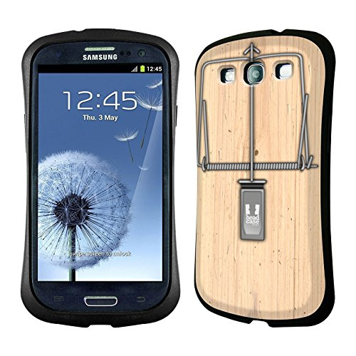 Head Case Designs Mouse Trap Hybrid Gel Back Case For Samsung Galaxy S3 Iii I9300