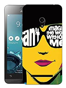 "Humor Gang Trendy Confident Girl Printed Designer Mobile Back Cover For ""Asus Zenfone 6"" (3D, Matte, Premium Quality Snap On Case)"