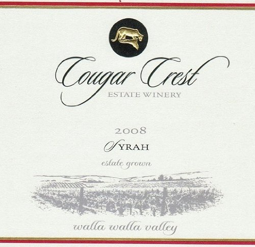 2008 Cougar Crest Syrah Walla Walla Valley Cougar Hills Vineyard Estate 750 Ml