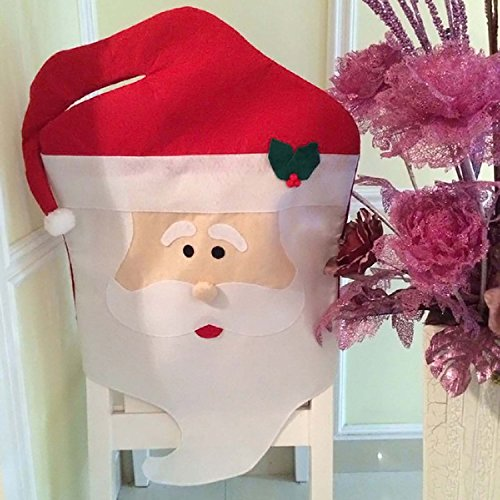 44X74cm Mr Santa Claus Christmas Chair Covers Dinner Seat Back Cover Home Decoration (Mr And Mrs Claus Costume)