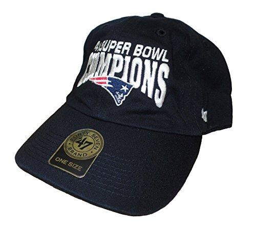 New England Patriots 2014 Super Bowl XLIX Champions 4X Champ Black Clean Up Adjustable Buckle Hat / Cap (Patriot Superbowl Champions compare prices)