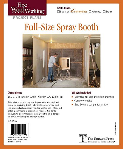 Fine Woodworking's Spray Booth for Woodworkers Plan