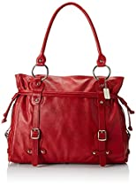 Claire Chase Catalina Ladies Leather Handbag, Computer Bag in Red