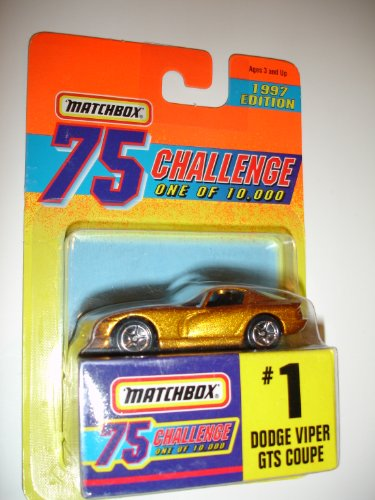 1997 Matchbox Challenge 75 Dodge Viper GTS Coupe #1 Limited Edition