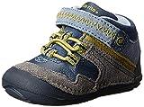Stride Rite SRT SM Isaiah Crib Shoe Toddler Grey/Blue 4.5 M US Toddler